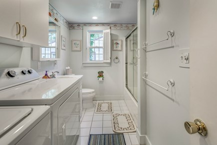 South Yarmouth Cape Cod vacation rental - Second bath with washer and dryer on main level