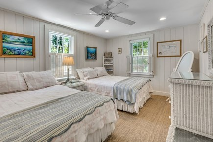 South Yarmouth Cape Cod vacation rental - Bedroom with 2 full size beds .