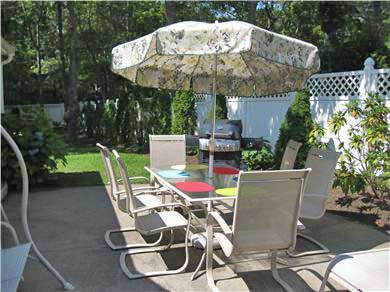 Mashpee, Popponesett Beach Cape Cod vacation rental - Patio with gas grill