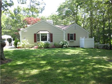 Mashpee, Popponesett Beach Cape Cod vacation rental - Outside Shower and landscaping to play on.