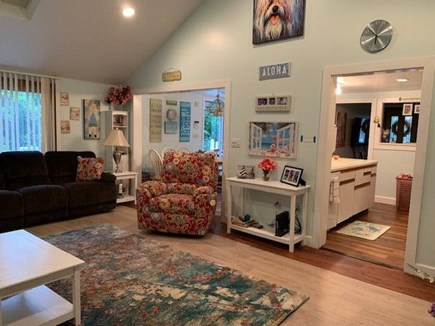 Mashpee, Popponesett Beach Cape Cod vacation rental - Great Room with Gas Fireplace