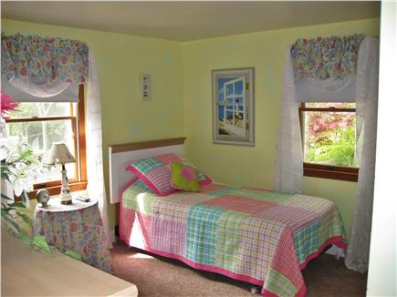 Mashpee, Popponesett Beach Cape Cod vacation rental - Front bedroom with TV- two twin beds