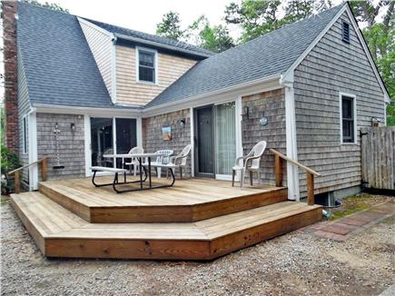 Eastham Cape Cod vacation rental - Deck overlooks  private yard / steps to delightful outdoor shower