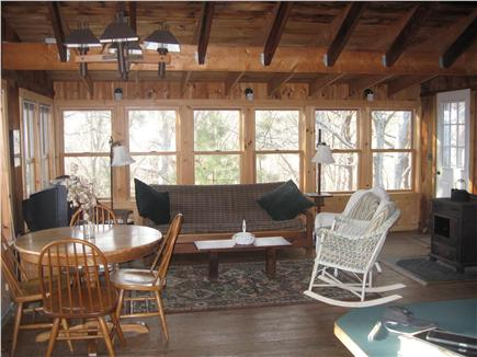 South Wellfleet Cape Cod vacation rental - Dining Table and the View