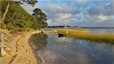South Wellfleet Cape Cod vacation rental - The beach on Wellfleet Bay near our staircase