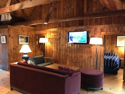 South Wellfleet Cape Cod vacation rental - Solid pine walls and floor with cozy seating