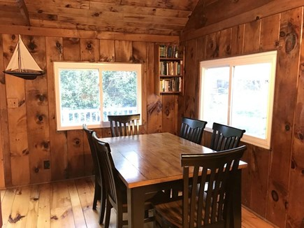 South Wellfleet Cape Cod vacation rental - Seating for six by the windows