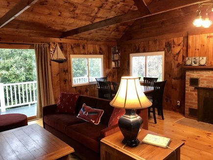 South Wellfleet Cape Cod vacation rental - Open living & dining area for relaxing time with friends & family
