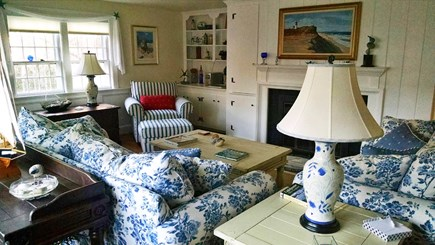 Yarmouthport Cape Cod vacation rental - Living Room/Fireplace