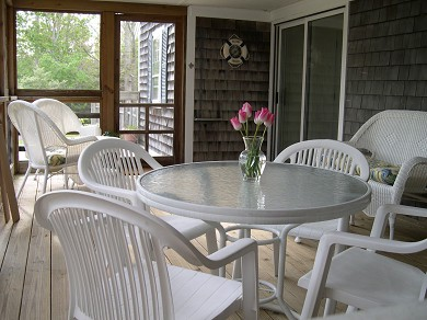 Yarmouthport Cape Cod vacation rental - Screened Porch