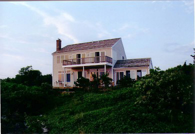Eastham Cape Cod vacation rental - The house from the beach at dusk