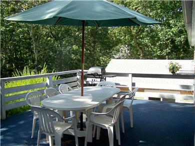 Great Sand Lakes, East Harwich Cape Cod vacation rental - Back deck