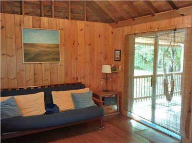 Eastham Cape Cod vacation rental - Living/Sleeping space with pullout futon