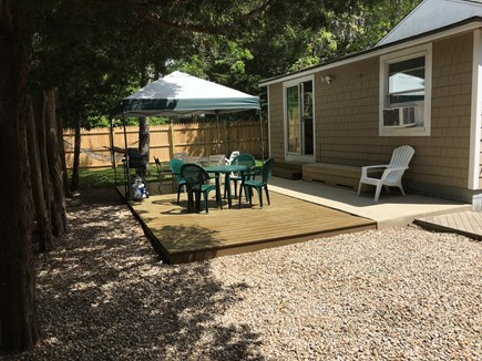 East Falmouth Cape Cod vacation rental - Fenced Back Yard with Canopy & Hammock