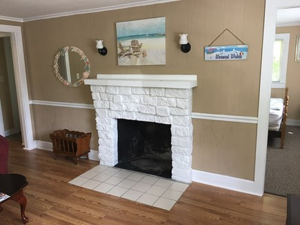 East Falmouth Cape Cod vacation rental - Fireplace in Living Room