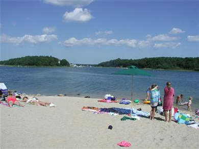East Falmouth Cape Cod vacation rental - Community saltwater beach only a 5 minute walk away!