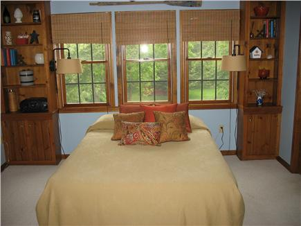 Brewster Cape Cod vacation rental - Sleeping area looking out over backyard