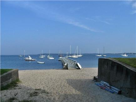 Bourne (Pocasset) Pocasset vacation rental - View down walkway to swimming beach-5 minutes from house