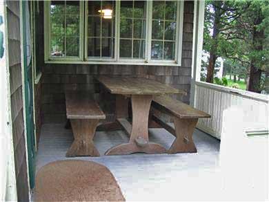 Bourne (Pocasset) Pocasset vacation rental - Covered Back porch for outside dining