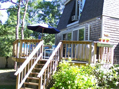 South Harwich Cape Cod vacation rental -   Large deck & private yard