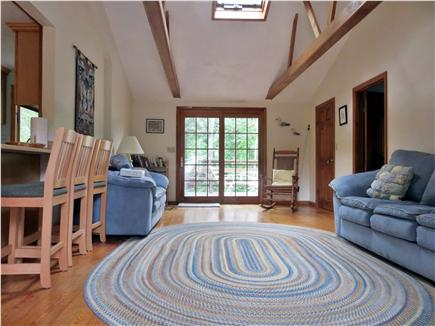 Chatham Cape Cod vacation rental - Great Room looking toward french doors and large deck