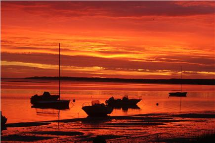 Barnstable Cape Cod vacation rental - Morning sunrise at the Beach at Low Tide