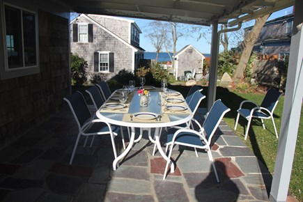 Barnstable Cape Cod vacation rental - A beautiful view of the water from the back patio