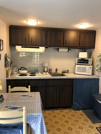 Dennis Port Cape Cod vacation rental - Fully-equipped kitchenette with full-size refrigerator.