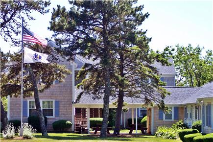 Dennis Port Cape Cod vacation rental - Unit Windows to the Left of the Breezeway