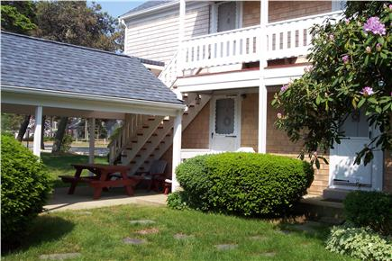 Dennis Port Cape Cod vacation rental - Unit Door on 1st Floor, Breezeway, and Yard
