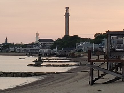 Provincetown Cape Cod vacation rental - Unobstructed view west towards downtown from exclusive deck area.