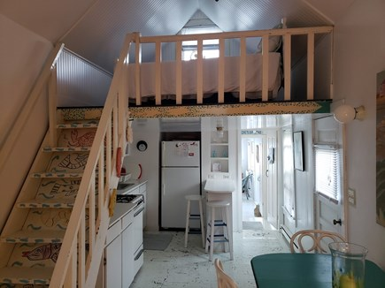 Provincetown Cape Cod vacation rental - View of kitchen/dining area/loft