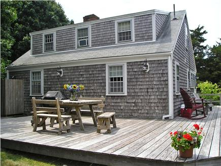 East Orleans Cape Cod vacation rental - View of Back Deck/Shower