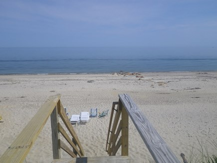 Sandwich Cape Cod vacation rental - From the top of stairs,Step out onto Beautiful Springhill Beach!