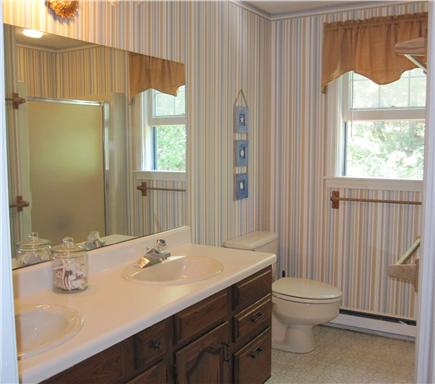 Chatham Cape Cod vacation rental - Upstairs Bathroom with double vanity