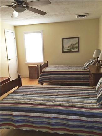 North Eastham Cape Cod vacation rental - Roomy bedroom with twin beds, could be a king, ceiling fan