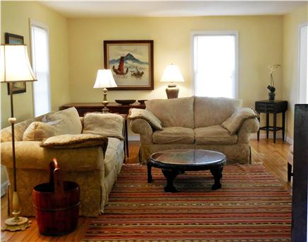 North Eastham Cape Cod vacation rental - Totally comfy sofas in the living/TV room