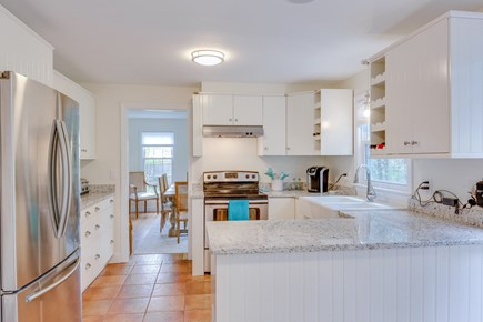 Eastham Cape Cod vacation rental - New kitchen with granite countertop and stainless steel appliance