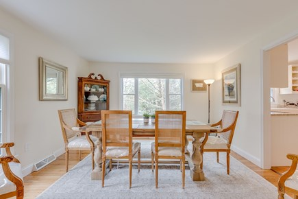 Eastham Cape Cod vacation rental - Dining room with large Restoration Hardware table