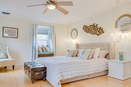 Eastham Cape Cod vacation rental - Beautiful coastal bedroom, king size bed and TempurPedic mattress