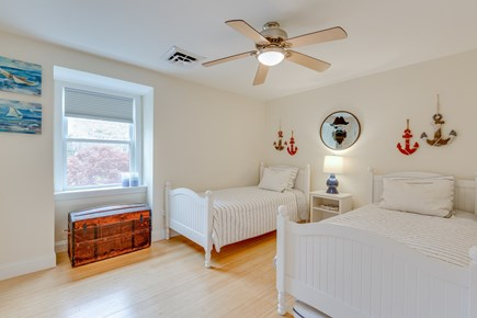 Eastham Cape Cod vacation rental - Double twin nautical bedroom, Pottery Barn beds, walk-in closet