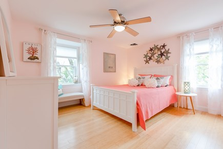 Eastham Cape Cod vacation rental - Coral themed queen bedroom, Crate&Barrel furniture