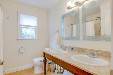 Eastham Cape Cod vacation rental - Family bathroom with double sinks and granite vanity top