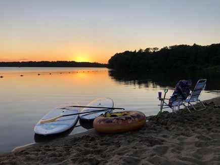 Eastham Cape Cod vacation rental - Beautiful sunset at Great Lake that is a short drive away