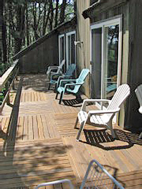 South Wellfleet Cape Cod vacation rental - Relax and enjoy the sunshine and water views on the back deck