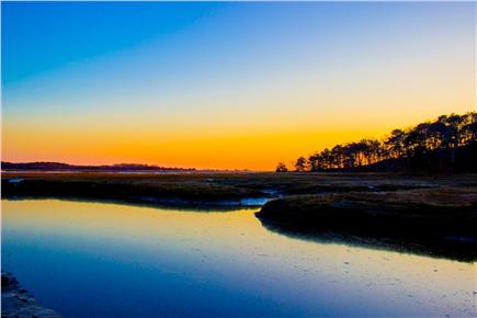South Wellfleet Cape Cod vacation rental - A quiet sunset on the Silver Spring marsh.