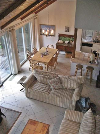 South Wellfleet Cape Cod vacation rental - Spacious livingroom with sliders to deck & water views