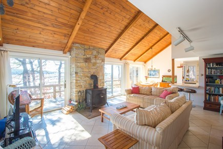 South Wellfleet Cape Cod vacation rental - The central room: a place to relax and hang out with family!