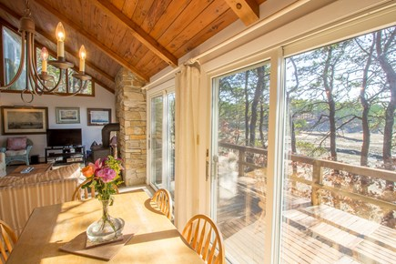 South Wellfleet Cape Cod vacation rental - Dining table with beautiful views over the marsh.