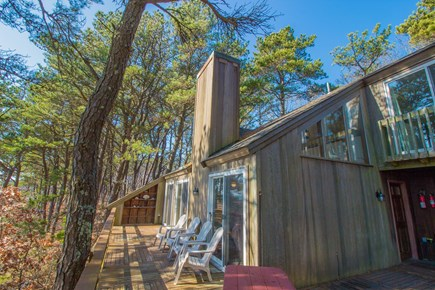 South Wellfleet Cape Cod vacation rental - Exterior and deck of house.
